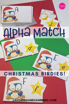 Tweet Tweet! Here they come! The sweet Christmas Birdies looking for their matching alphabet stars!  Use this activity to practice letter recognition and more! #printableactivities #preschoolactivities #literacyactivities #preschoolliteracycentre #printableliteracyactivitiy #printableliteracyactivities #education #printableactivitiesforkids  #christmasthemedactivities Christmas Activities For Kids, Printable Activities For Kids, Alphabet Activities, Literacy Activities, Educational Activities, Christmas Themes, Tweet Tweet, Alphabet Cards, Early Reading