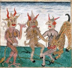 1480-1490. Devils Macabre Art, Danse Macabre, Medieval Manuscript, Medieval Art, Renaissance, Capricorn Art, Religious Paintings, Demon Art, Occult Art