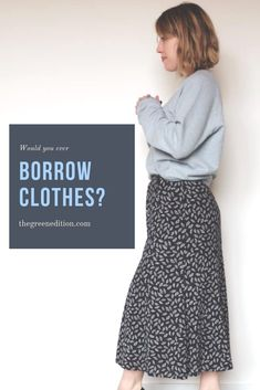 Part of 100 tips to curating a more zero waste wardrobe. Borrow clothes from family and friends instead of buying new! Ethical Clothing, Ethical Fashion, Women's Clothing, Fashion Articles, Fashion Advice, Mom Style Fall, Sustainable Fashion, Sustainable Clothing, Sustainable Living