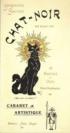 Chat Noir, poster, 1890s by Gatochy, via Flickr