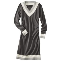 Target - Mossimo® Women's Ruched V-Neck Sweater Dress - Assorted Colors