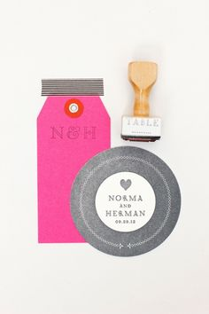 Hot Pink and stamp- love it