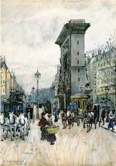 La Porte San Denis - Maurice Prendergast, 1892