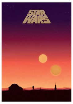Star Wars Binary Sunset Poster i made this one the weekend, was super fun! - Imgur