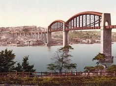 saltash bridge plymouth england - I lived in a flat at the end of this bridge. Beautiful views in the morning!!