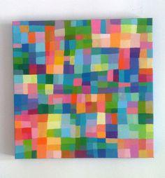 Abstract Painting / ORIGINAL PAINTING/ Geometric door tushtush