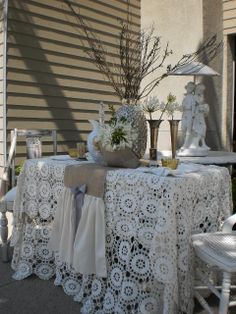 luv burlap & lace together  more at burlap leather and lace  http://pinterest.com/dsgoodin1/