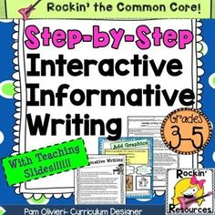 Informative Writing- Step by Step Slides and interactive pages!