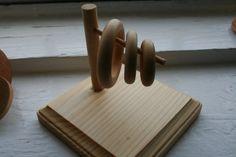 Post with Horizontal Dowel Montessori Inspired
