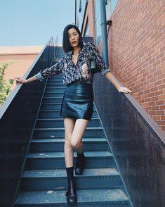 表姐真的A #刘雯 #liuwenlw #liuwen Leather Skirt, Skirts, Liu Wen, Fashion, Leather Skirts, Moda, La Mode, Skirt, Fasion