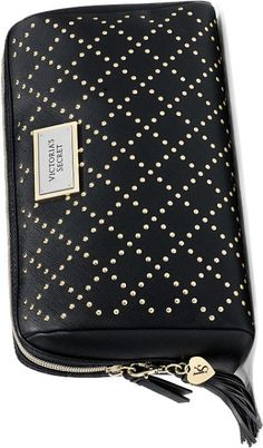 8d1cd97bdf9d Victoria s Secret Black Studded Large Beauty Bag