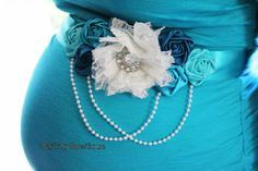 Hey, I found this really awesome Etsy listing at http://www.etsy.com/es/listing/157600314/maternity-sash-in-white-aqua-and-teal