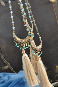 Tassel Tribal Necklace, Tassel Boho Necklace, Free Shipping