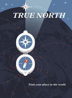 """True North"" Art Print from Lumadessa"