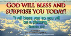 God will bless and surprise you today! Free inspirational wallpapers