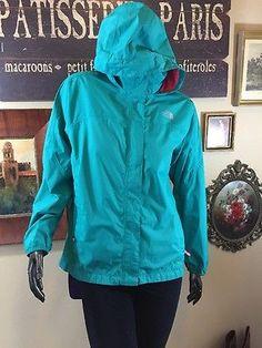 The North Face Hyvent Resolve Reflective Girls Teal Pink Hood Zip Jacket XL Mint  | eBay