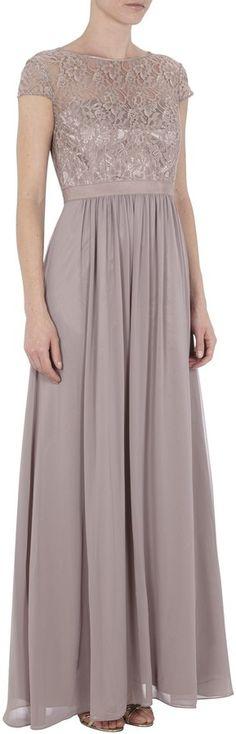 Mariposa Abendkleid mit Oberteil aus Spitze auf shopstyle.de