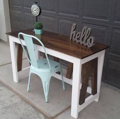 """How cute is this desk that @sawdustcreators built using our plans! #nailedit  for the free plans search DIY Desk on our site! #shanty2chic…"""