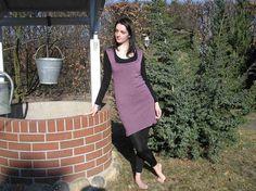 Top Longtop violett Gr. 38 von Dies und Das aus Wolle auf DaWanda.com