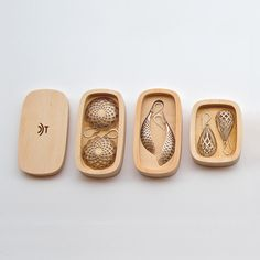 Packaging for a jewellery collection called Adorn, designed by David Trubridge.
