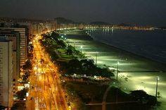Praia de Santos -SP - Brasil (visão noturna)