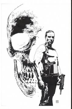 Splash Page Comic Art :: For Sale Artwork :: Punisher Inventory by artist Tim Bradstreet