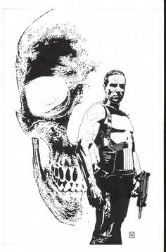 Splash Page Comic Art :: For Sale Artwork :: Punisher Inventory by artist Tim Bradstreet
