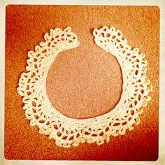 crochet lace collar tutorial