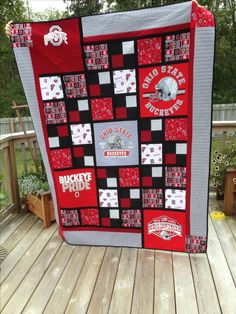 Dad's quilt. Pieced and quilted by S. Hoffman