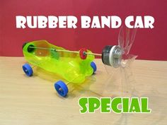 How to Make a Rubber Band Powered Car | Toys, For kids and Vehicles