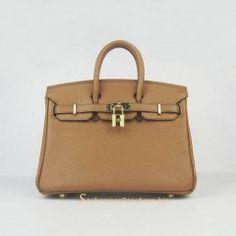 Sacs Hermès Pas Cher Birkin 25cm Tote Sac Café Clair Cuir Golden 6068 €191.00