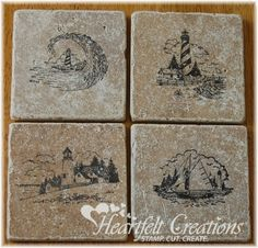 Link on how to stamp on tiles to make these Heartfelt Creations   Balmy Breeze Coaster Set: http://www.splitcoaststampers.com/resources/tutorials/tile_coasters/