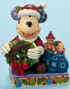 Santa Mickey with Wreath