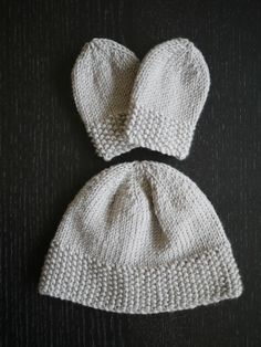 baby hat and mittens pattern