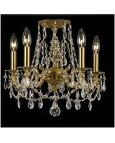 Crystorama 5545-AG-CL-S Mirabella 5 Light Chandelier in Aged Brass with Swarovski Strass Crystal