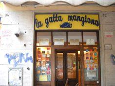 La Gatta Mangiona, Roma - A really good sit-down pizza in Rome, it's worth heading out into the  Monteverde Nuovo district. Via F. Ozanam 30/32, 00151  0039 06 534 6702  www.lagattamangiona.com  Tue-Sun, 7.45pm-11.30pm