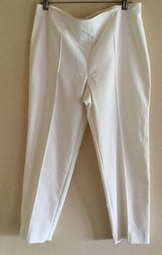 New with tags, St. John Marie Cream Side Zip Classic Pants, Size 12 $395    eBay