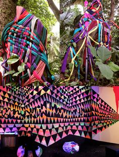 fabric in the trees