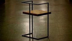 The Square Chair Handmade from Reclaimed Wood & Steel | Sonder Mill