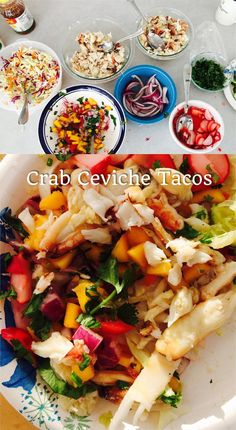 Crab Ceviche Tacos- http://TheSnobbyFoodie.com #thesnobbyfoodie #tacotuesday