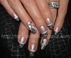New Design with China Glaze Crackle and Rimmel Crushed Pearl Pearl Nails, Hair Flow, Nail Photos, Top Nail, China Glaze, Rimmel, Mani Pedi, Wedding Nails, Natural Hair Styles