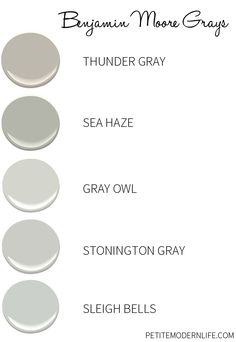 Wickam gray stonington gray and coventry gray 2 of the for Thunder grey benjamin moore