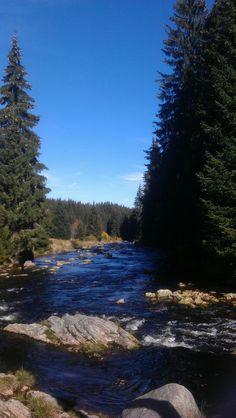 Modrava - soutok Roklanského potoka a řeky Vydry.Nádhera,když stojíte u takového mocného živlu,vezme dech.