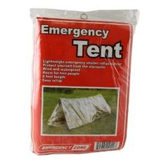 Reflective material helps conserve body heat  Two person  8 feet in length  Compact and lightweight portable shelter