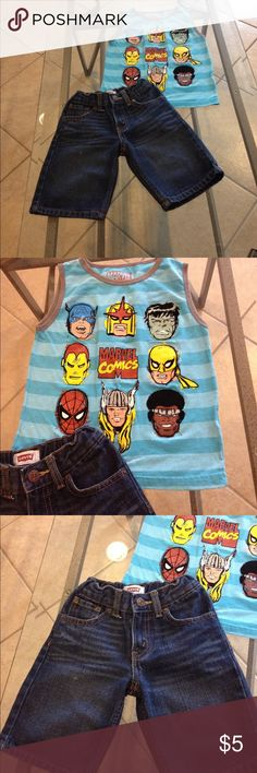4T pant and top outfit good condition Size 4T Levi pants and Marvel top good condition Levi& Marvel Other