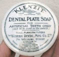 """Klenzit"" Dental Plate Soap for Artificial Teeth, Pot Lid"
