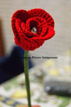 AnnAiraM Bijoux Amigurumi: Come realizzare una Rosa