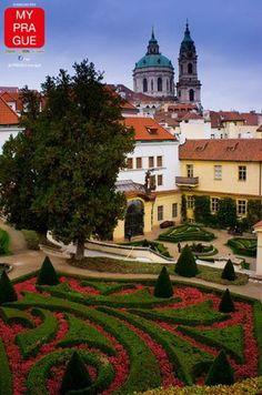 Gardens in Prague are stunning, especially during summer.