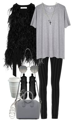 """""""Untitled #8204"""" by nikka-phillips ❤ liked on Polyvore featuring Yves Saint Laurent, Elizabeth and James, Ray-Ban, Acne Studios, H&M, Givenchy and ASOS"""