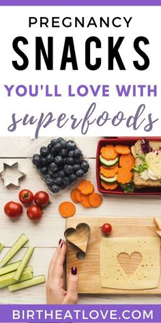 Healthy pregnancy snacks that contain the best superfoods for nutrition. Low sugar, high protein snacks for a healthy pregnancy diet, less weight gain while pregnant, and no guilt. Lots of yummy ideas to keep you full longer. Healthy Pregnancy Snacks, Pregnancy Nutrition, Healthy Snacks, Healthy Nutrition, Pregnancy Health, Healthy Tips, Healthy Recipes, Best Superfoods, High Protein Snacks